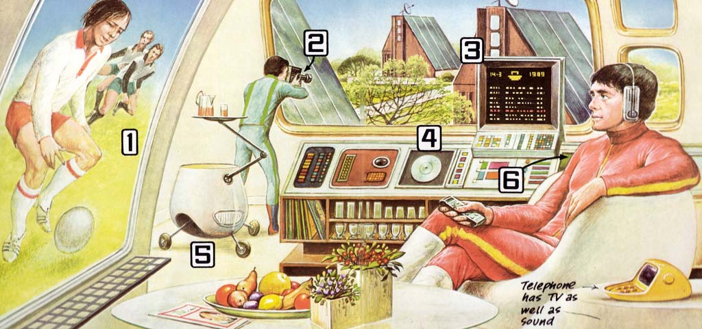 'Computers in the home' from Usborne's Book of the Future. Can't see it? Click to view in your browser.