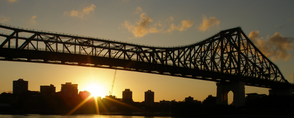 Brisbane's Story Bridge at daybreak