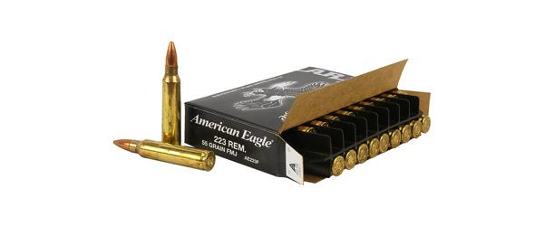 Federal American Eagle Rifle Ammo 223 Rem FMJ