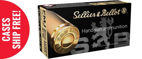 Sellier & Bellot Pistol Ammuntion, 9MM, Full Metal Jacket (FMJ), 115 GR