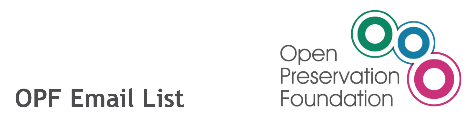 Open Preservation Foundation Email List