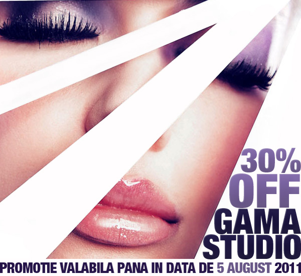 30% off Gama Studio. Promotie valabila pana in data de 5 august 2011