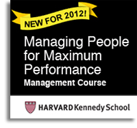 Managing People for Maximum Performance.