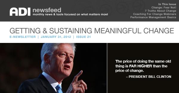 ADI News Feed | January 31, 2012 | Getting & Sustaining Meaningful Change