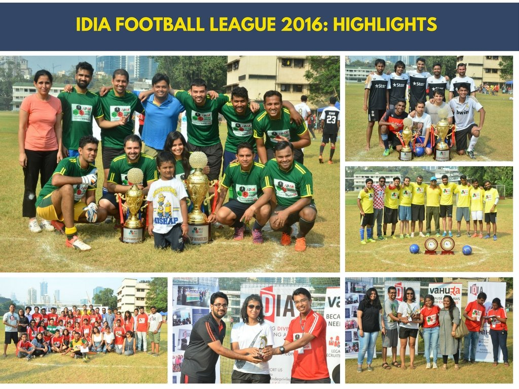 IDIA Football League 2016: Highlights. Pictures of the winning teams and individuals