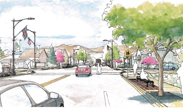 Artist rendering of Eatonville's streetscape project