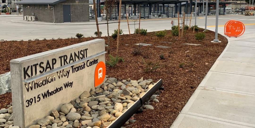 Wheaton Way Transit Center sign