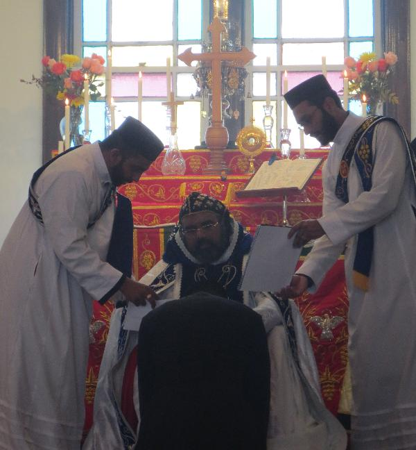 Anoop Thomas is Ordained to the Subdiaconate by His Grace Zachariah Mar Nicholovos