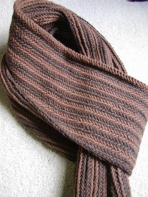 Reversible Herringbone Scarf by Bruce Weinstein