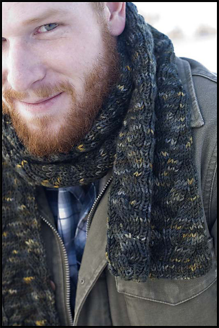 Reversible Cable Scarf by Bruce Weinstein