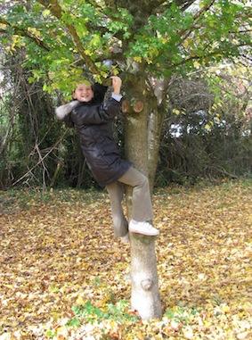 Hannah up a tree
