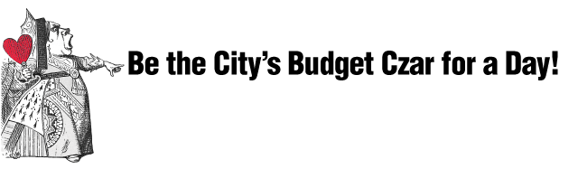 Be the City's Budget Czar for the Day! graphic headline