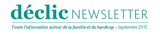 Newsletter Déclic - septembre 2015