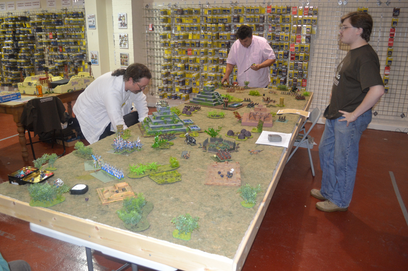 Rumble in the Jungle - One of the great participation games that were going on