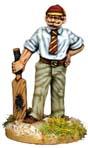explorer with cricket bat