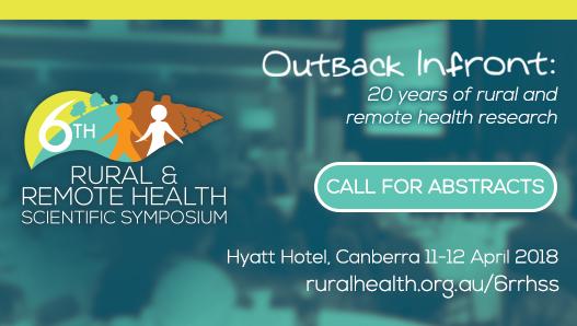 Rural & Remote Health Scientific Symposium Outback Infront