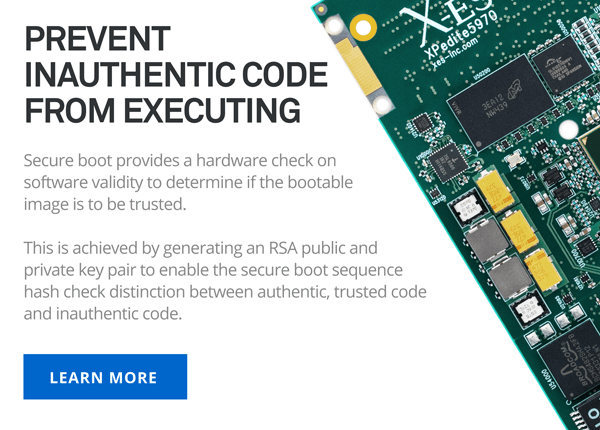 Prevent inauthentic code from executing with secure boot