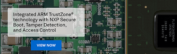 Integrated ARM TrustZone technology with NXP Secure Boot, Tamper Detection, and Access Control