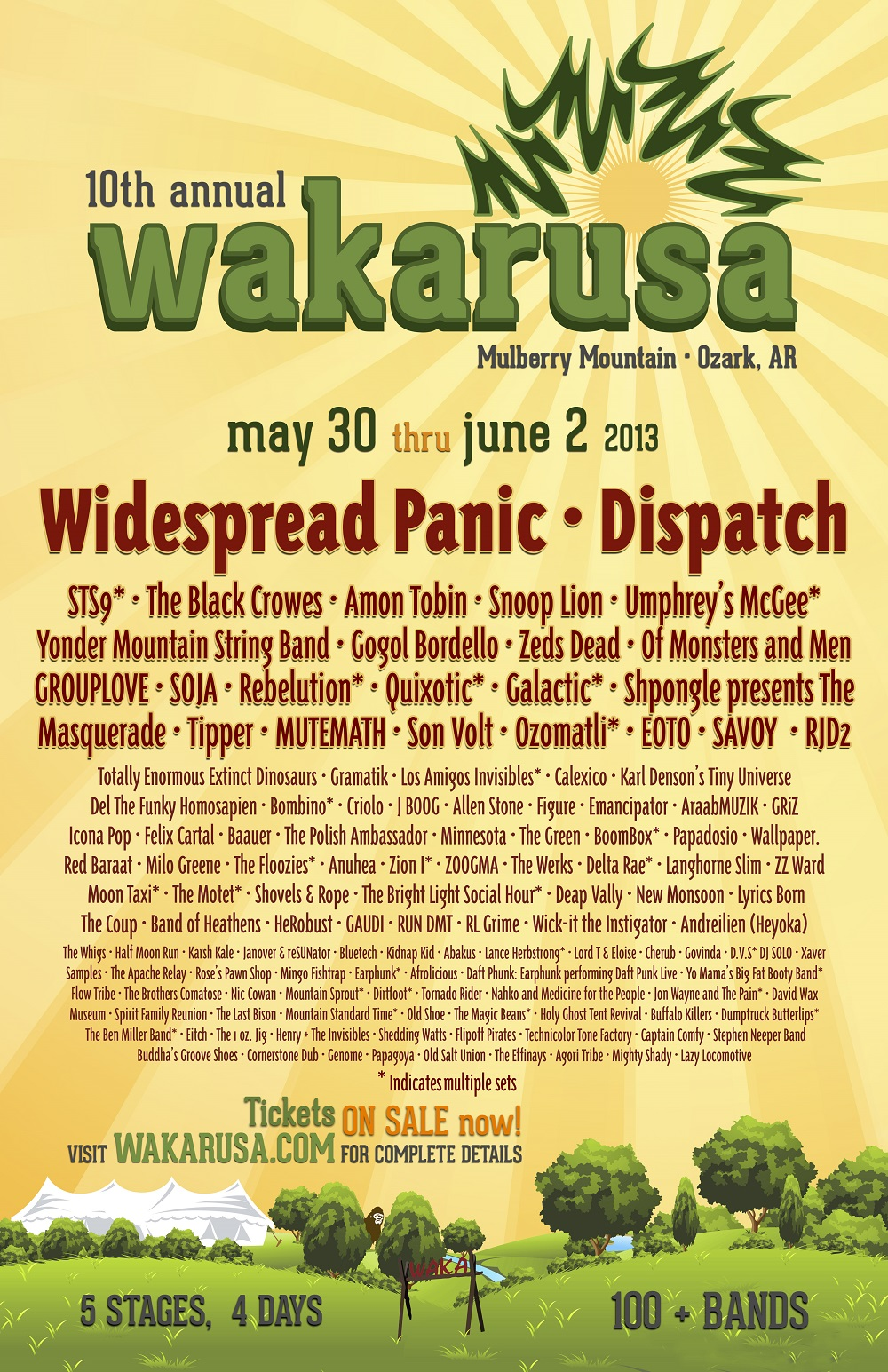 Click here for the full lineup to Wakarusa 2013!