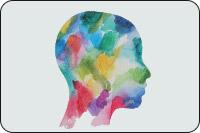 Watercolour profile of a head (iStockphoto)
