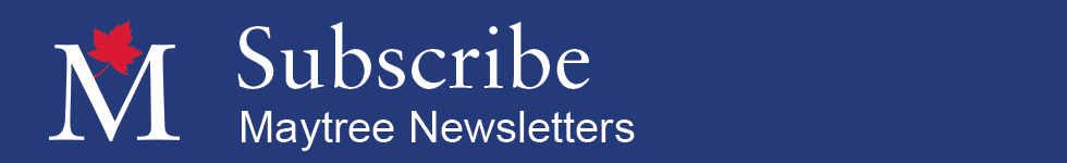 Subcribe to Maytree Newsletters