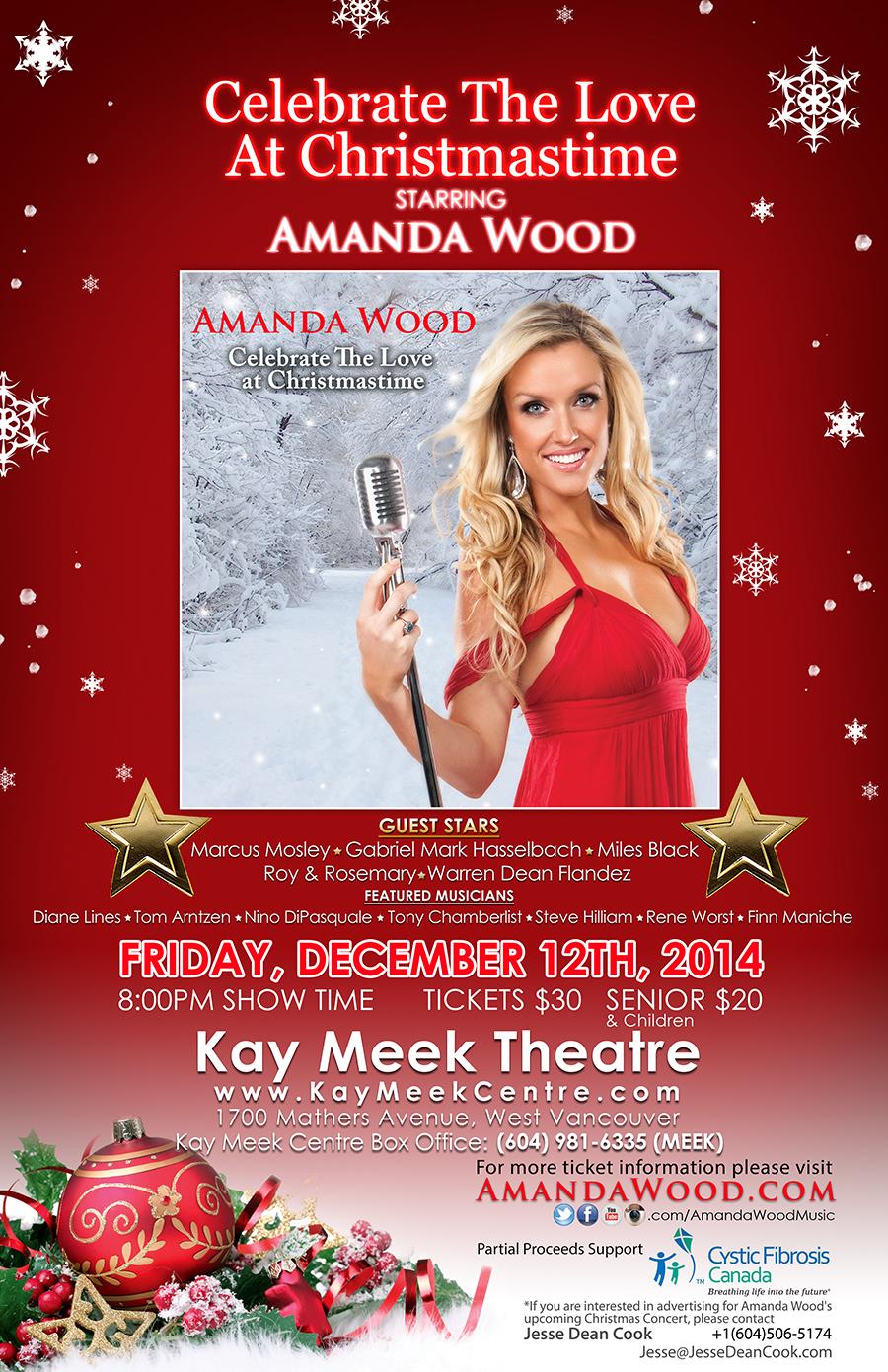 PRESS RELEASE: Amanda Wood Charity Concert For Cystic Fibrosis Dec. 12th