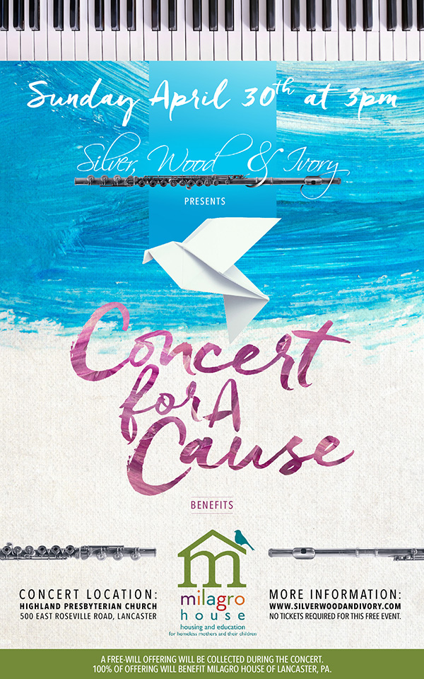 SWI Concert for a Cause: April 30. Benefits Milagro House