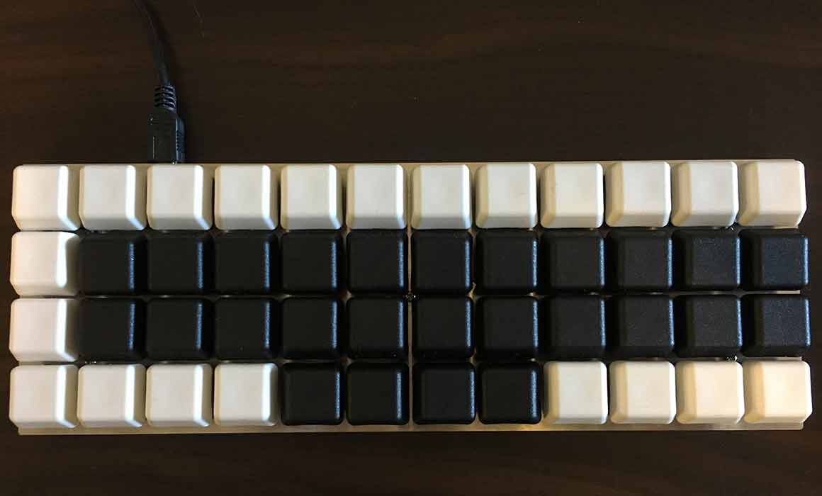 Planck keyboard with steno layout