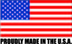 Proudly made in the U.S.A. we support American manufacturing and the American worker