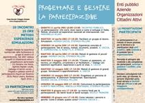 CORSO DI FORMAZIONE SULLA PROGETTAZIONE E GESTIONE DI PROCESSI PARTECIPATIVI