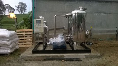 Sistema de Biogás en la plata de San Pedro de los Milagros de Colanta; foto: MGM Innova Group