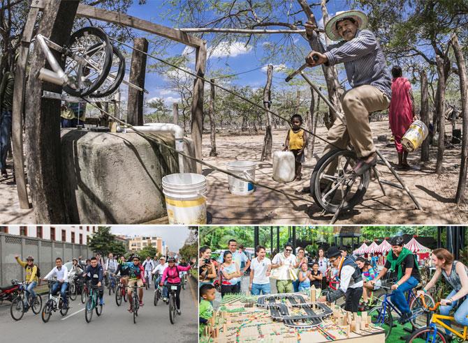 Energía Limpia que pedalea por toda Colombia; Fotos: Hanz Rippe Gabriel, Primavera Fest y Juan Daniel Correa