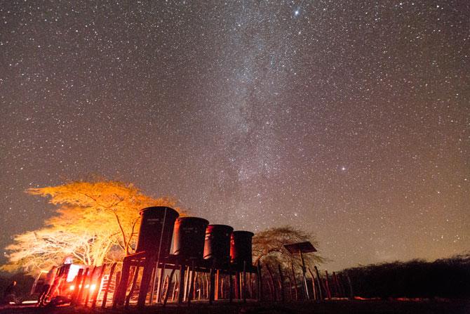 La noche estrellada en el sistema solar de Caciporchi: Maicao, Guajira; Foto: Hanz Rippe Gabriel