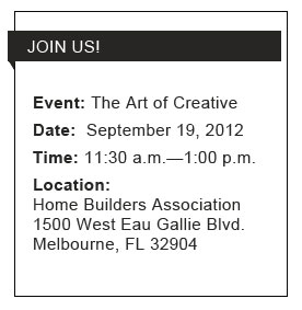 Join us on Sept. 19th for tthe Art of Creative Event