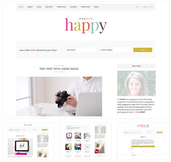Install WordPress Theme Pretty Happy