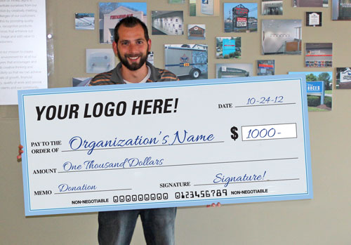 Large Format Checks - Timely Signs