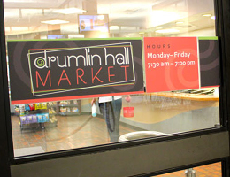 Drumlin Hall Window Graphics - DCC