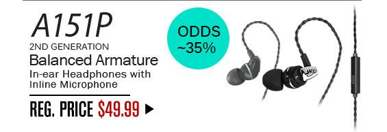 A151P: Odds ~35%