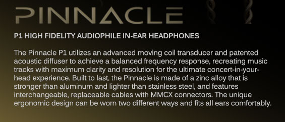 P1 High Fidelity Audiophile Earphones
