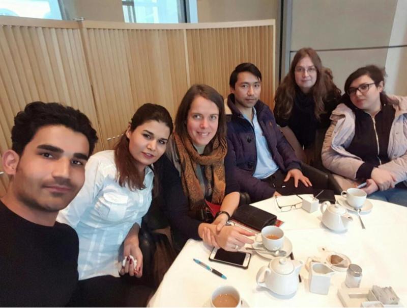 Foto: Treffen mit Flüchtlingen aus Afghanistan und Iran