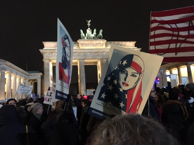 Foto: Proteste gegen Trump in Berlin