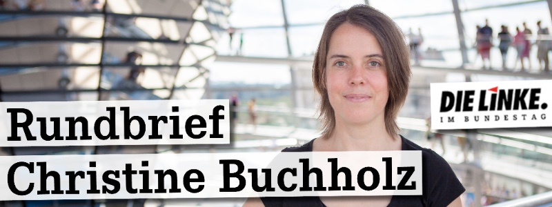 Bild: Rundbrief Christine Buchholz Header