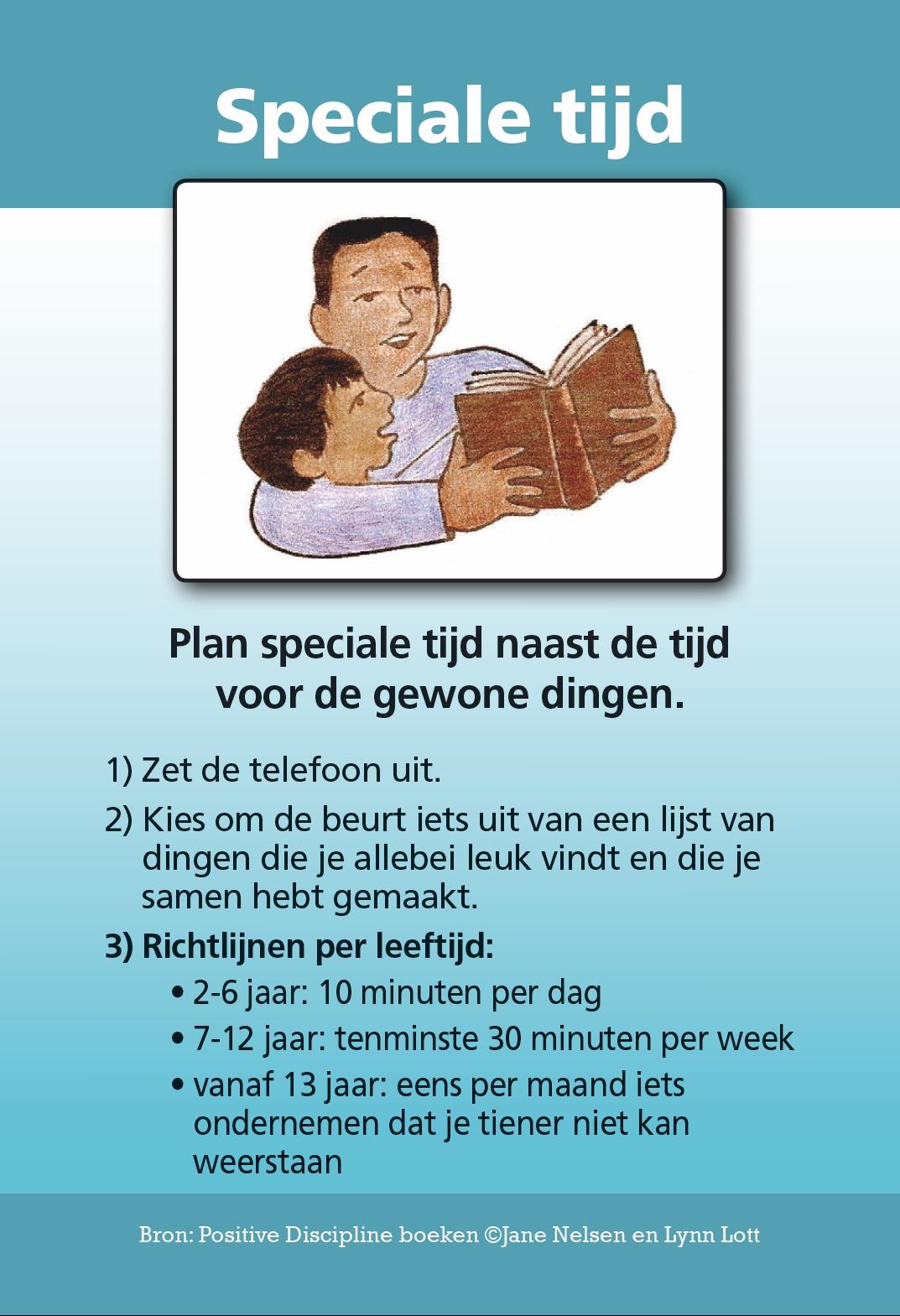 Speciale tijd - toolkaart Positive Discipline