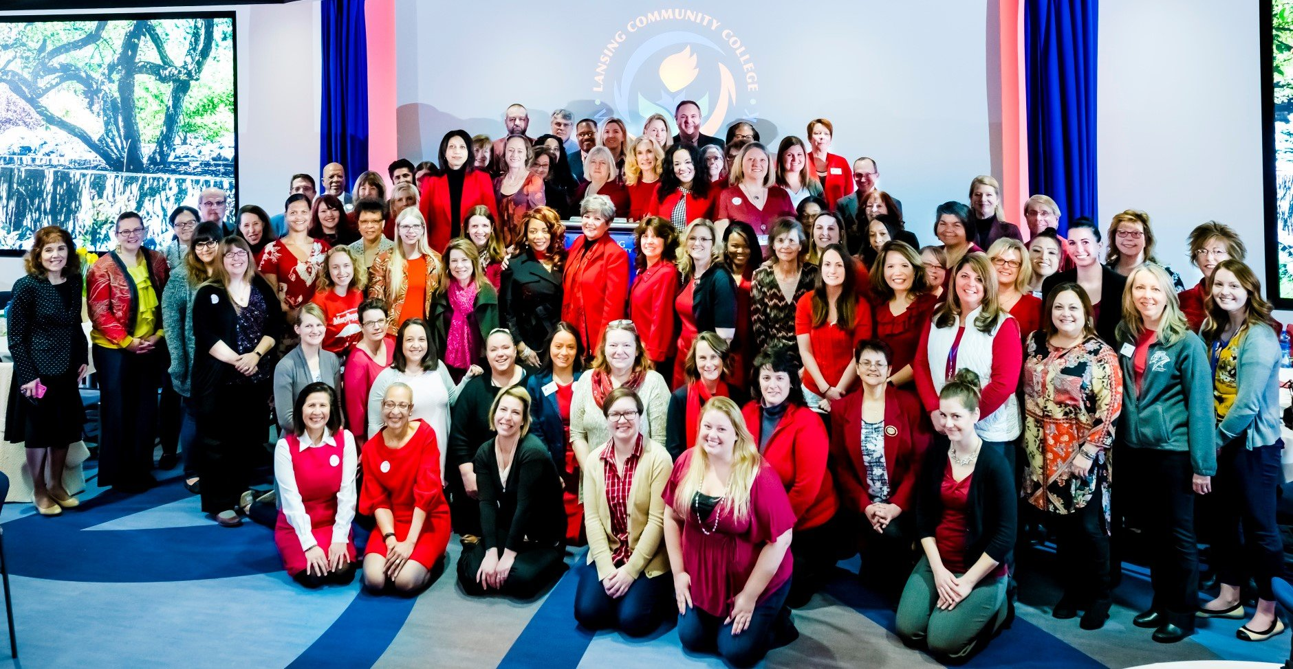 Group photo from LCC's 2018 Equal Pay Day breakfast