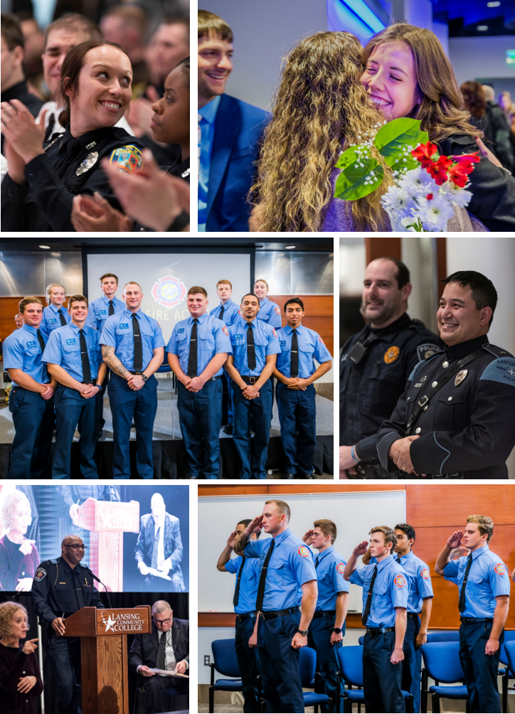 Fire, Police and Nursing students celebrate their December 2019 graduations.