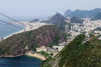 Sugar Loaf Mountain, Rio, Brazil by John Tomsett