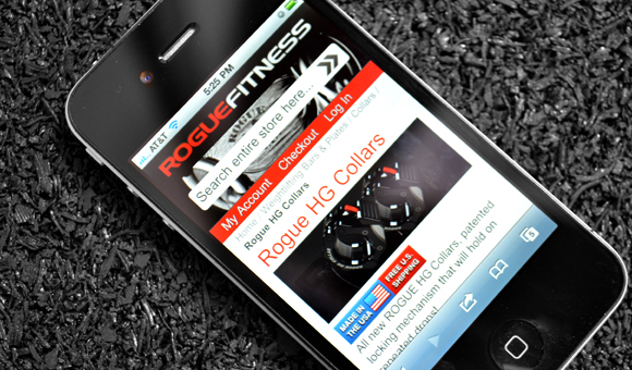 Rogue Fitness Mobile Site