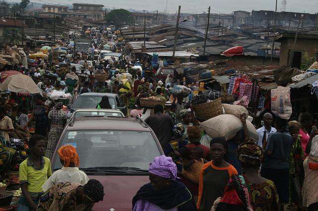 Busy Nigerian market