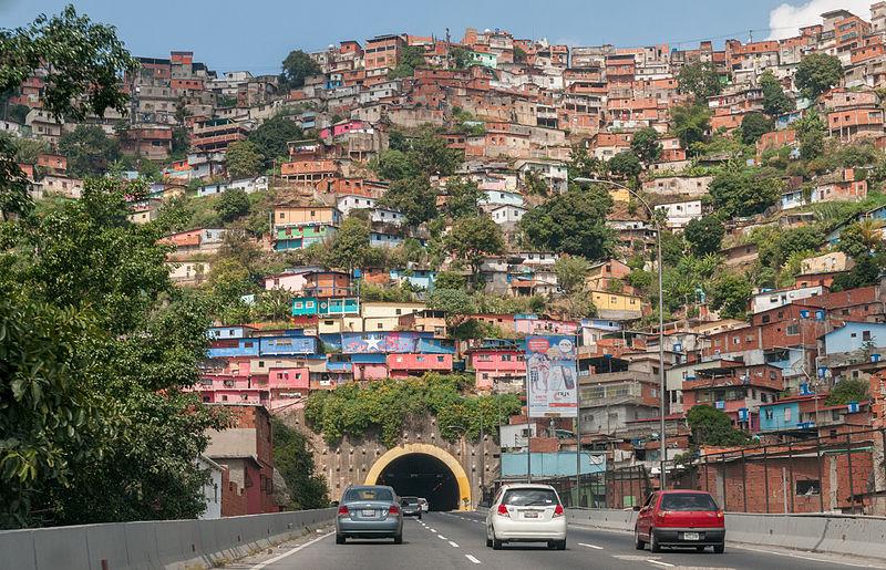 Slum in Caracus, Venezuela