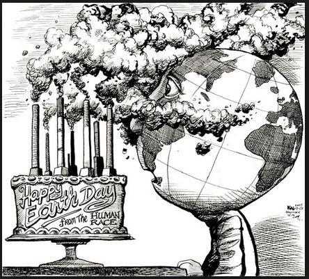 Earth Day cartoon
